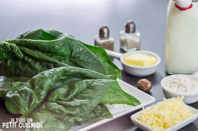 Gratin d'épinard (ingrédients)