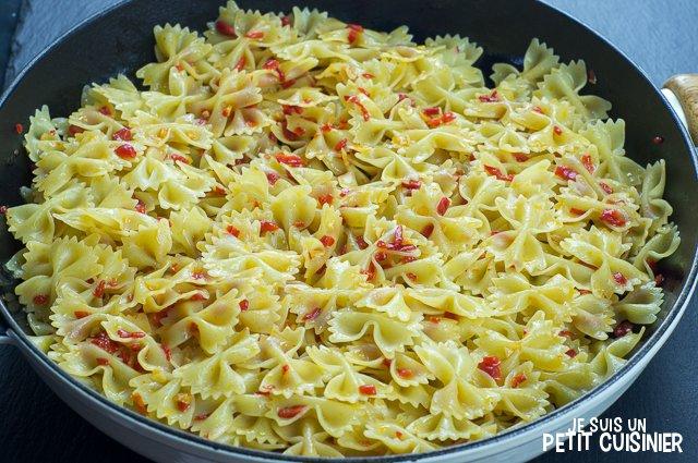 Pâtes aux poivrons de « piquillo » (mélanger)