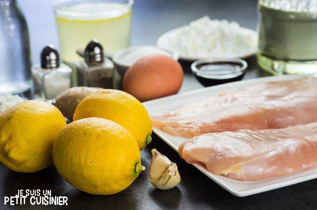Poulet au citron chinois (ingrédients)