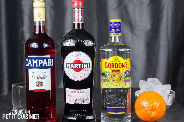 Cocktail Negroni (ingrédients)