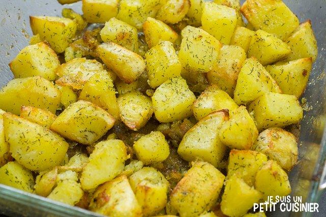 Pommes de terre rôties à l'aneth
