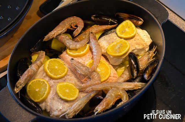 Choucroute de la mer (fruits de mer)