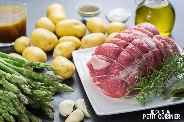 Tournedos d'agneau aux pointes d'asperges vertes (ingrédients)