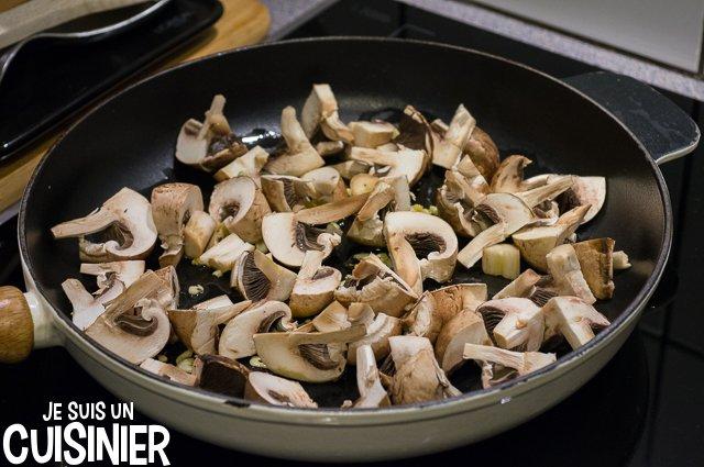 Poêlée de champignons aux crevettes (ajouter les champignons)