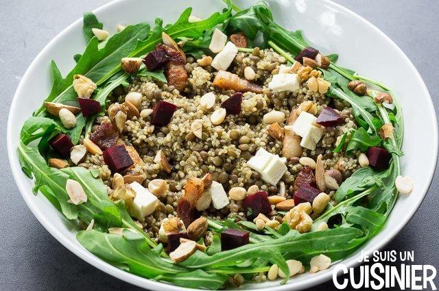Salade de quinoa et lentilles (fruits secs)