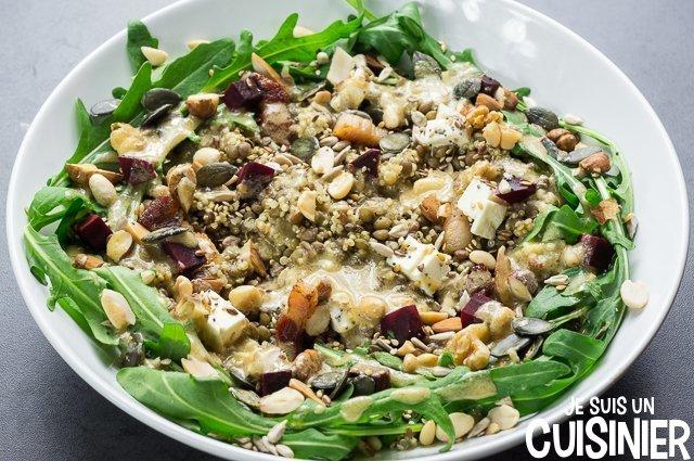 Salade de quinoa et lentilles (vinnaigrette)