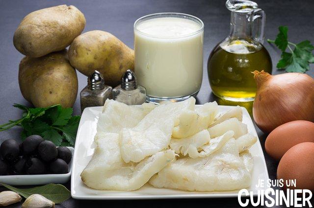 Bacalhau à Gomes de Sá (ingrédients)