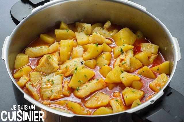 Ragoût de pommes de terre à la morue