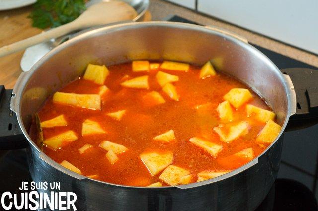 Ragoût de pommes de terre à la morue (fumet)