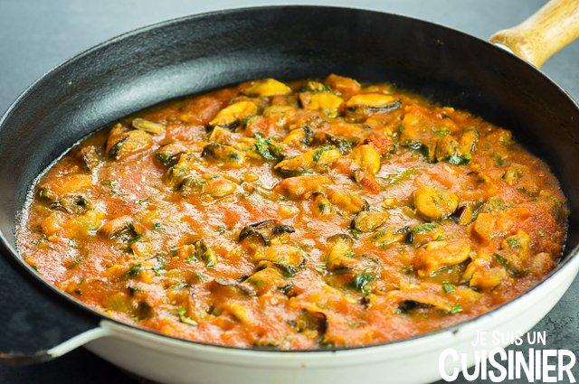 Pâtes aux moules (sauce)