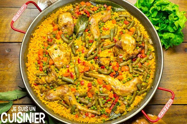 Paella au lapin et légumes
