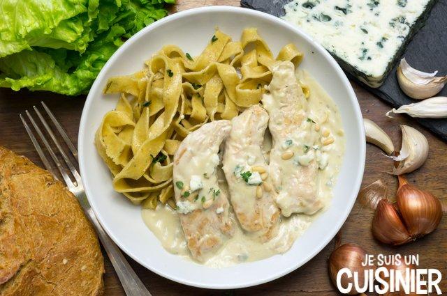 Aiguillettes de poulet sauce au bleu (recette)