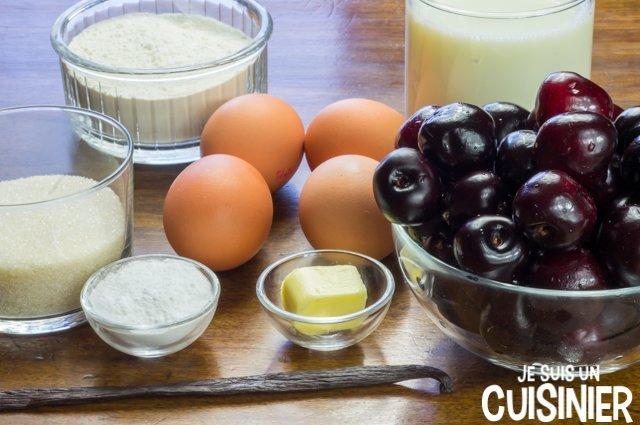 Clafoutis aux cerises noires (ingrédients)