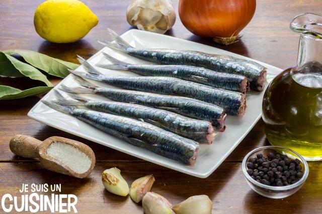 Sardines marinées (ingrédients)