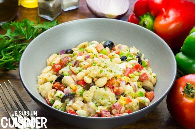 Salade de haricots blancs à la morue (empedrat)
