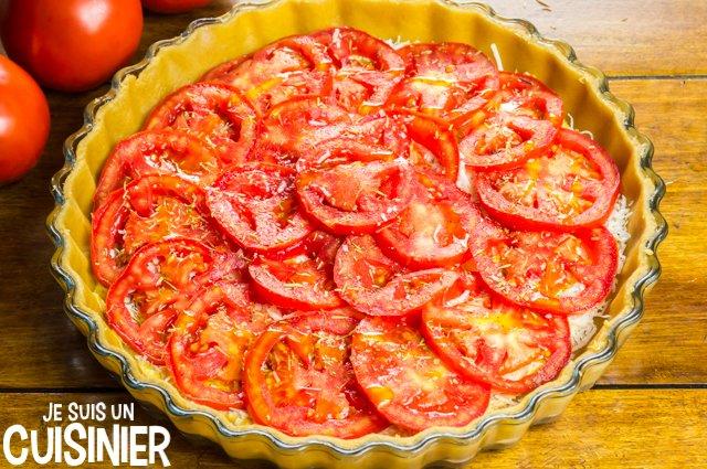 Tarte à la tomate et moutarde (huile)
