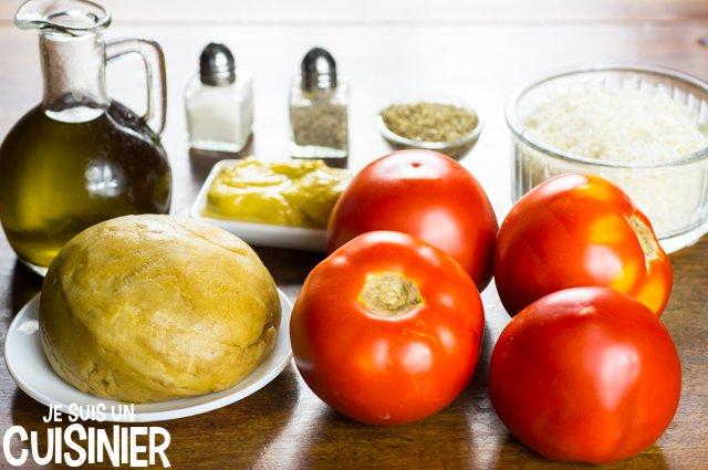 Tarte à la tomate et moutarde (ingrédients)