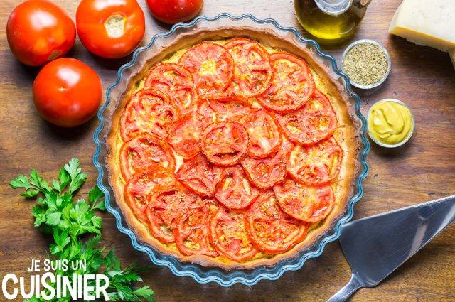 Tarte à la tomate et moutarde (recette)