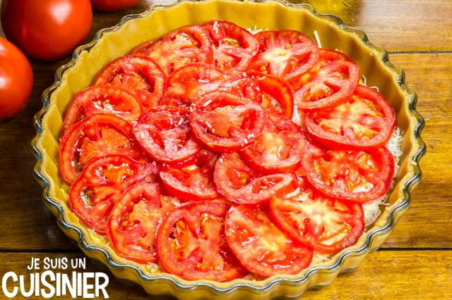 Tarte à la tomate et moutarde (rondelles)