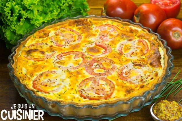 Tarte au thon, tomate et moutarde (repos)