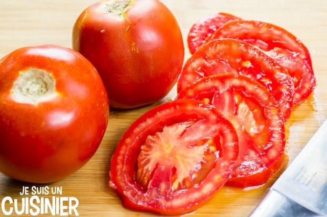 Tarte au thon, tomate et moutarde (rondelles)