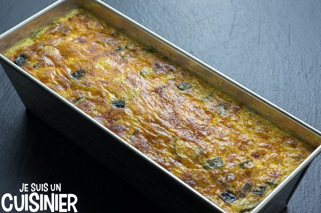 Flan de courgette (moule à cake repos)