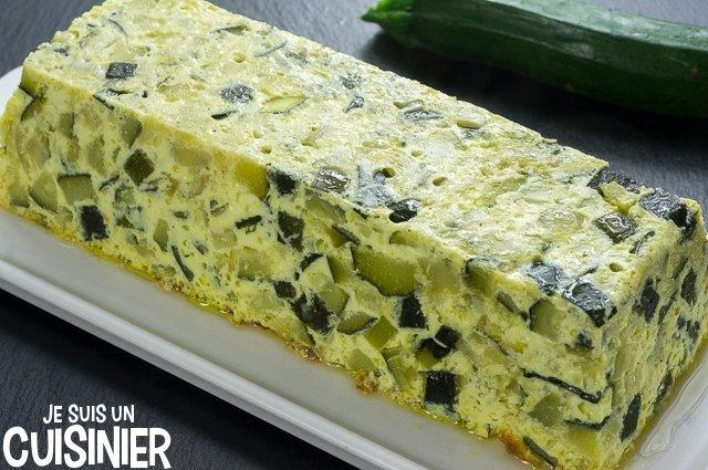Flan de courgette (moule à cake)