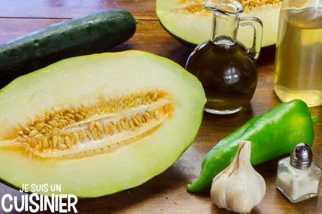 Gaspacho de melon (ingrédients)