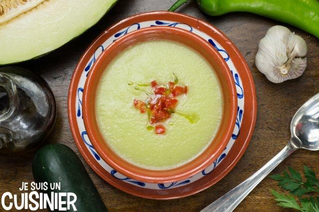 Gaspacho de melon (recette)