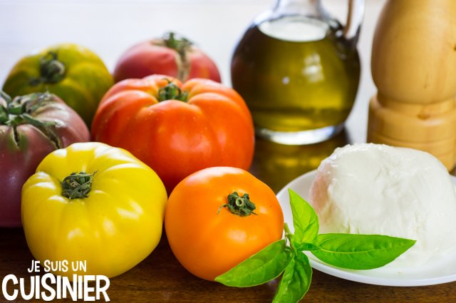 Salade tomate mozzarella (ingrédients)