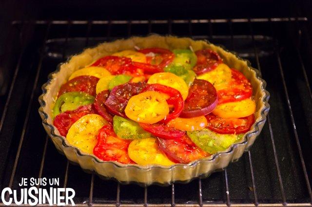 Tarte aux tomates anciennes multicolores (four)