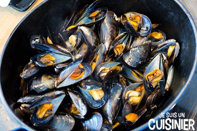 Moules à la provençale (cuisson)