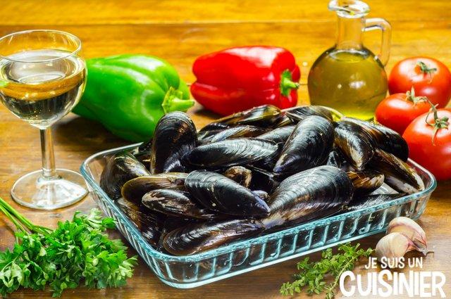 Moules à la provençale (ingrédients)