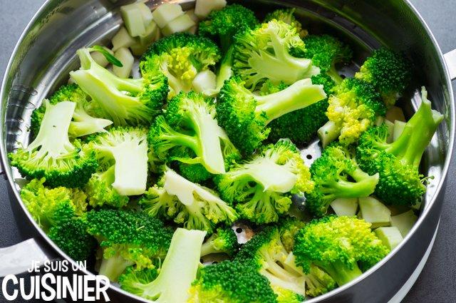 Quiche au brocoli et mimolette (cuisson)