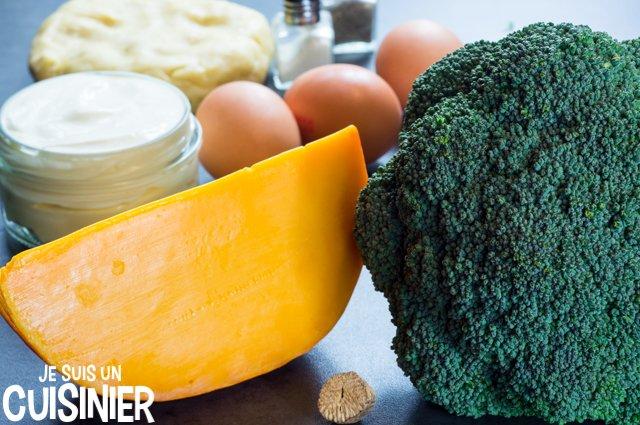 Quiche au brocoli et mimolette (ingrédinets)