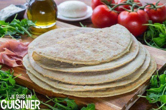 Piadina italienne (pain plat sans four)