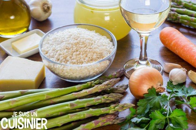 Risotto aux asperges vertes (ingrédients)