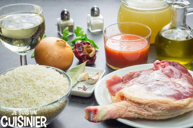 Paella au canard (ingrédients)
