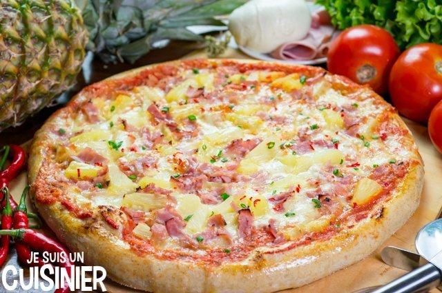 Pizza hawaïenne à l'ananas