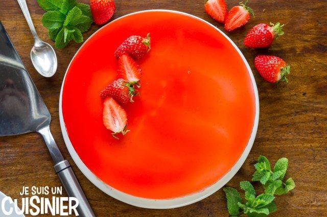 Recette de bavarois aux fraises et mascarpone
