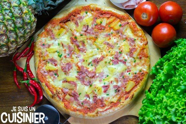 Recette de pizza hawaïenne à l'ananas