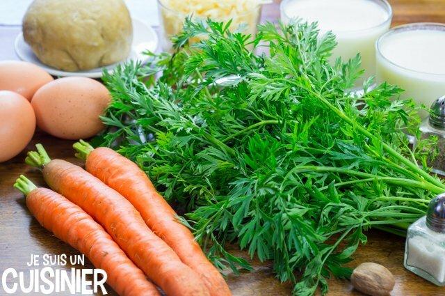quiche aux fanes de carotte (ingrédients)