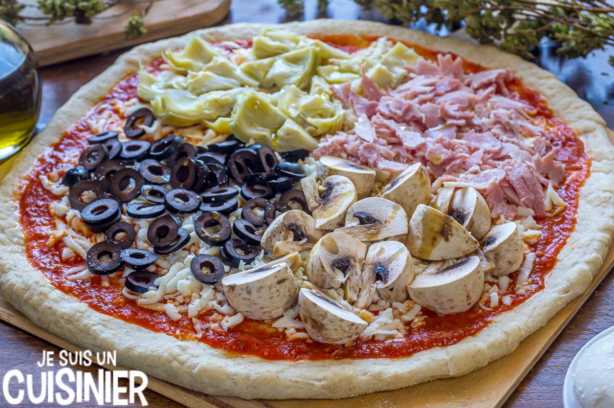 comment faire pizza 4 saisons