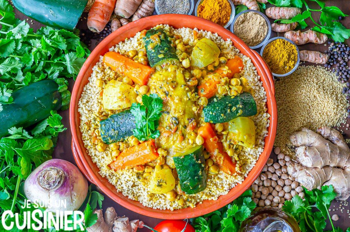Recette de couscous au poulet et légumes