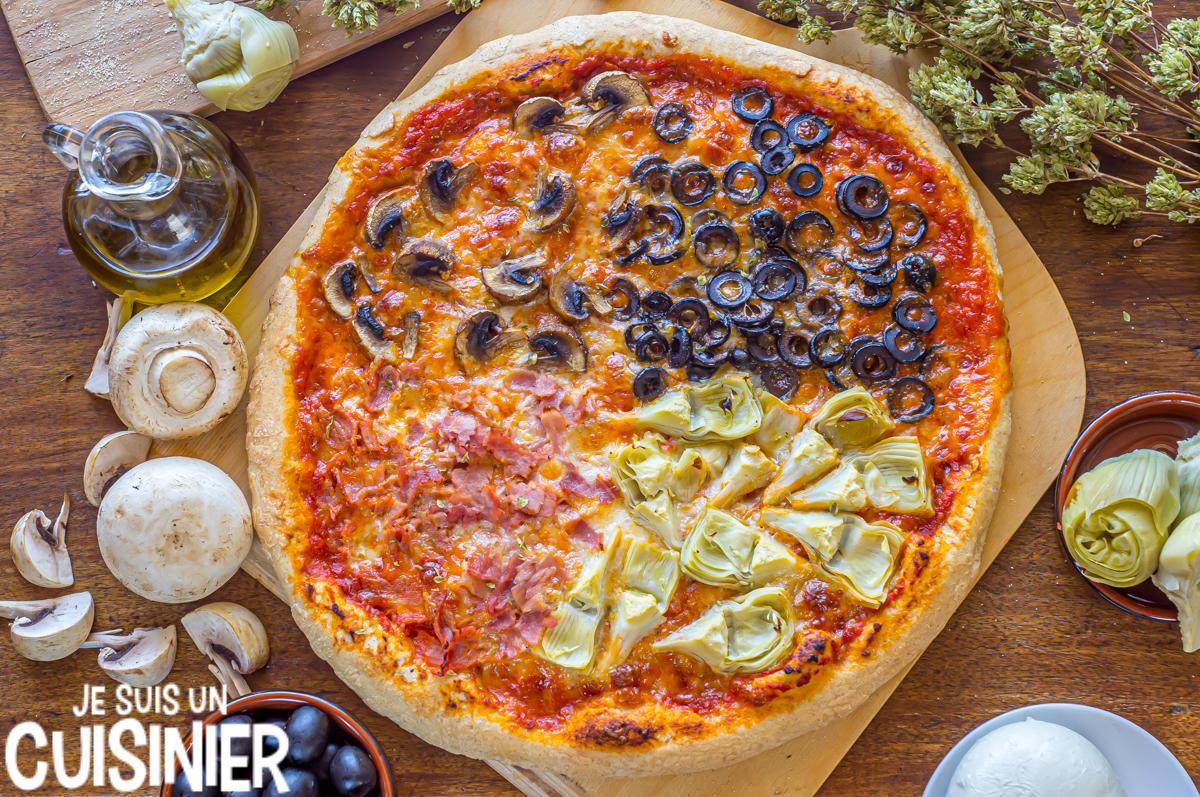 Recette pizza 4 saisons