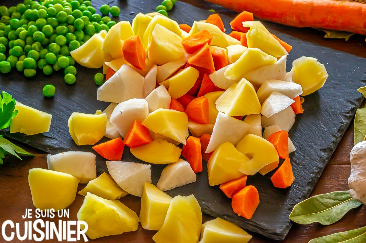 Légumes pour ragoût de dinde