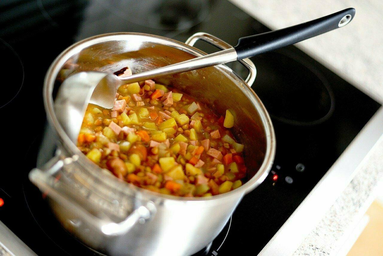 Lentilles vertes au curry (cuisson)