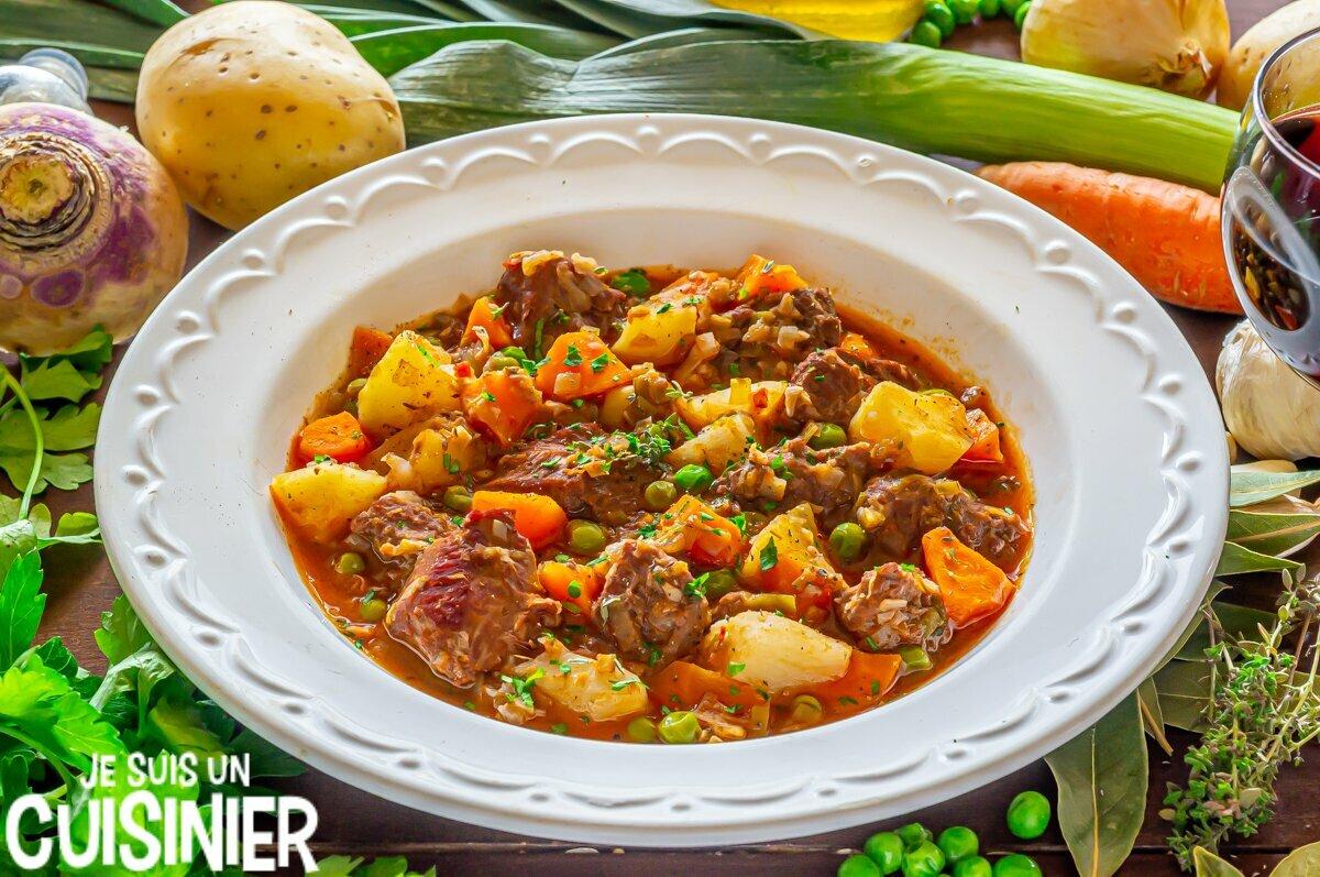 Ragoût de dinde aux pommes de terre et légumes