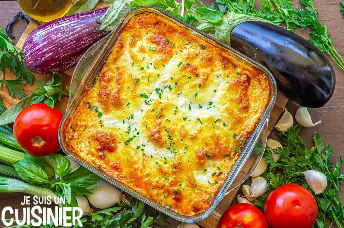 Recette de lasagnes d'aubergines à la viande