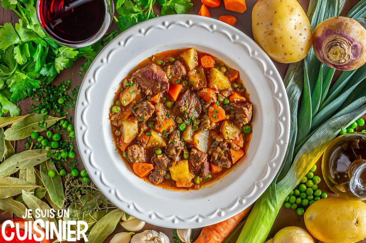 Recette de ragoût de dinde aux pommes de terre et légumes